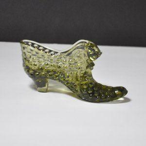 Vintage Fenton Hobnail Glass Shoe